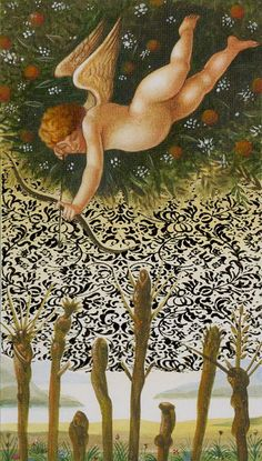 8 de bâtons - Tarot d'or Botticelli