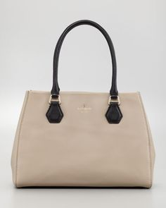 catherine st. louise tote bag, dark chino by kate spade new york at Neiman Marcus.