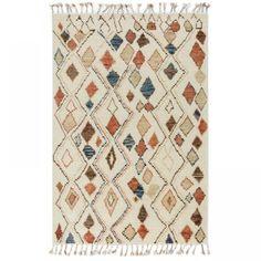 Moroccan Home Decor, Moroccan Furniture, Moroccan Lanterns, Moroccan Design, Moroccan Rugs, Wool Wash, Striped Rug, Wool Rug, Hand Weaving