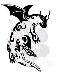 Dragonite Tribal by ElementalWolfSpirit
