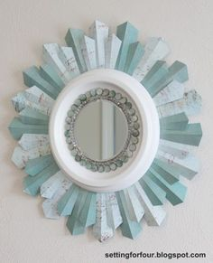 Beaded Sunburst Mirror Tutorial Home Decor you can make! - DIY Sunburst Mirror using a ceiling medallion with full instructions! for FourHome Decor you can make! - DIY Sunburst Mirror using a ceiling medallion with full instructions! for Four Diy Wand, Diy Deco Rangement, Decor Crafts, Diy Home Decor, Home Decoration, Diy Crafts, Mur Diy, Tutorial Diy, Do It Yourself Inspiration