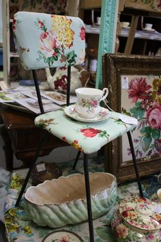 Shabby Granny Chic Floral Child's Chair Kids