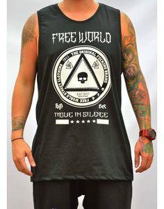 Camista Regata Free World Move In Silence