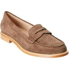 TodS Suede Loafer (1,605 PEN) ❤ liked on Polyvore featuring shoes, loafers, brown, brown loafers, tods shoes, brown suede loafers, brown suede shoes and brown shoes