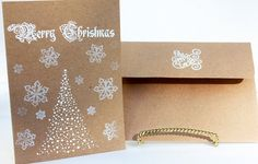 Kraft Paper Christmas Cards Rustic Christmas Cards by SweetSights, $6.50