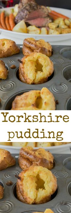 A British staple on any Christmas or Sunday dinner plate. Yorkshire pudding are the British version of popovers.