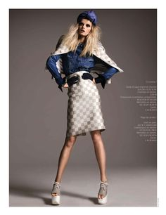 the jean genie: jennifer pugh by kevin sinclair for french revue de modes #22 s/s 13