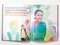 """Beautiful view book for Loyola University MD. Love their design for the """"atypical"""" student Booklet Design, Brochure Design, Design Layouts, Fundraising Letter, Loyola University, Magazine Layout Design, Soviet Art, Graphic Projects, Publication Design"""