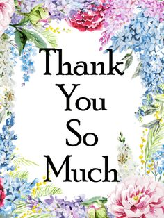 48 best thank you cards images on pinterest thank you cards send free gorgeous flower frame thank you card to loved ones on birthday greeting cards by davia its free and you also can use your own customized m4hsunfo