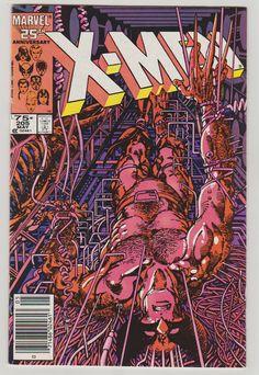 Uncanny X-Men; Vol 1, 205 Copper Age Comic Book. NM-. May 1986. Marvel Comics