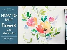 [LVL4] Painting Flowers: Floral Watercolor Tutorial - YouTube