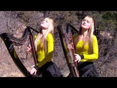 PINK FLOYD - Wish You Were Here (Harp Twins electric) Camille and Kennerly