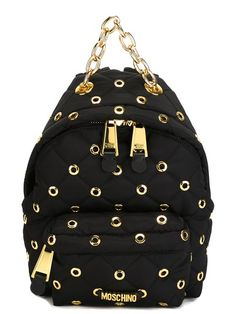 MOSCHINO Eyelet Embellished Backpack. #moschino #bags #backpacks