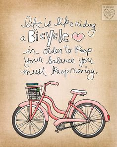 life is like riding a bicycle choose your color by vol25 on Etsy