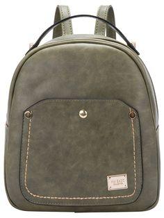 Green Metal Embellished PU Backpack 15.79
