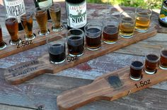 Buy Now at www.reclaimedoregon.etsy.com Personalized Beer Flight Tray Wedding gift by ReclaimedOregon