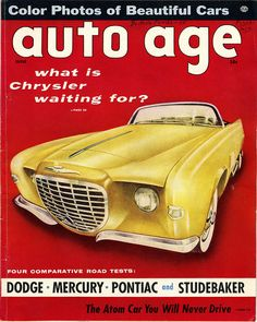 What Is Chrysler Waiting For?    Chrysler concept car in 1956.