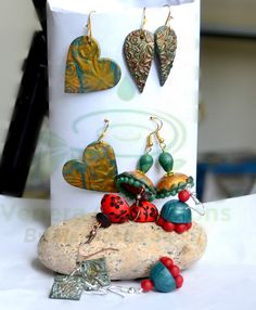 #earrings #polymerclay #handmade by Maneesha