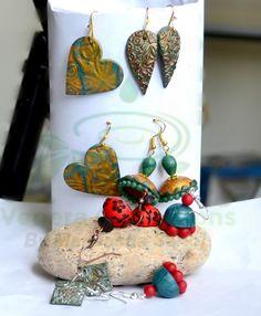 #earrings #polymerclay #handmade by Maneesha