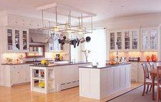 modern white kitchen cabinets with hard wood floor design Wood Floor Kitchen, Farmhouse Sink Kitchen, White Kitchen Cabinets, White Kitchens, Colonial Kitchen, Kitchen Sinks, Dream Kitchens, Kitchen Flooring, Country Kitchen