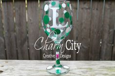 A personal favorite from my Etsy shop https://www.etsy.com/listing/111514120/personalized-wine-glass-20-oz-new-york