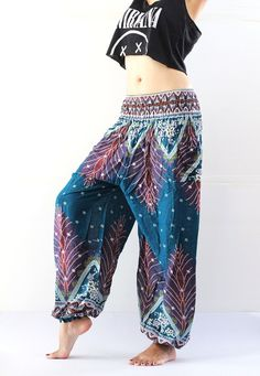 Bohemian pants - bohemian clothing women yoga pants harem pants hippie trousers stretchy