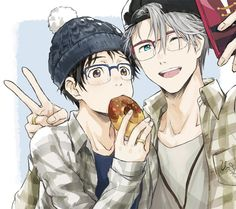 Yuri on ice- Yuri Katsuki and Victor Nikiforov
