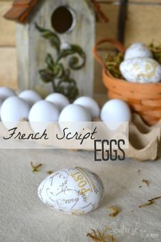 French Script Eggs-Sondra Lyn at Home