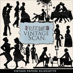 Far Far Hill: New Freebies Vintage Paper Silhouettes