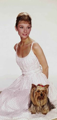 audrey hepburn and her animal Mr Famous