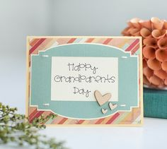 Happy Grandparents Day Card Made with Cricut Explore - #DIY - Show the grandparents in your life some love with a card!