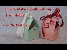 ▶ Learn to Make a Scalloped Tag Treat Holder - YouTube