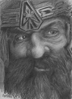Gimley of The Lord of The Rings by CaseyJRhodesArt on Etsy, $35.00