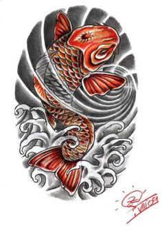 Japanese Koi Fish Tattoo Design Picture 2