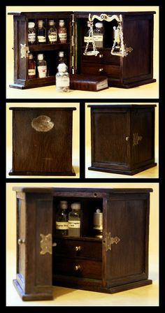 Mini Apothecary Cabinet