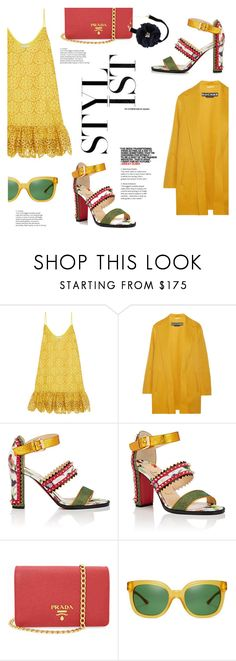 """""""Spice"""" by lisalockhart ❤ liked on Polyvore featuring Alexis, Rochas, Christian Louboutin, Prada, Tory Burch, Olsen and Lydell NYC"""