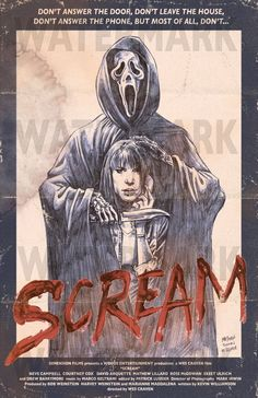 Scream #alternative #movie #posters #art Classic Movie Posters, Movie Poster Art, Classic Movies, Horror Posters, Scream Movie, Scream Art, Horror Art, Horror Movies, Ghostface Scream