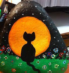 Halloween full moon kitty
