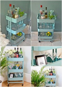 Ikea rolling cart - bar cart