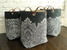 The Indigo collection  Block printed Hampers by papatotoro on Etsy, $90.00