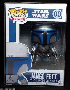Funko POP Jango Fett With Custom Box Vinyl Bobble Head Figure Star Wars HTF Rare #figure #head #star #wars #rare #bobble #vinyl #jango #fett #with #custom #funko