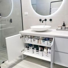 Our Ensuite Organisation- How to Organise your Bathroom! - Just Another Mummy Bl. - Ikea DIY - The best IKEA hacks all in one place Ikea Must Haves, Ikea Organization Hacks, Bathroom Organisation, Organizing Ideas, Kitchen Organization, Cleaning Cupboard Organisation, House Organization Ideas, Closet Organization, Diy Bathroom