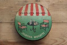 Huntley & Palmers Cocktail Tin 1954 by AJVintageUK on Etsy