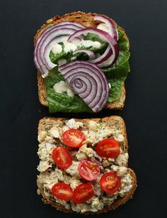 This Chickpea Sunflower Sandwich is a delicious vegetarian lunch option