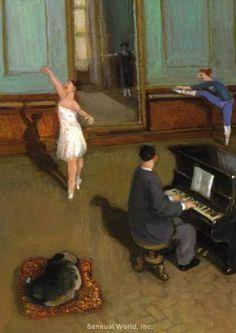 Dancer Ballet Ballerina Girl MICHAEL SOWA Art Postcard