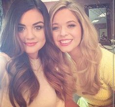 PLL actresses Lucy Hale (Aria) and Sasha Pieterse (Alison), Pretty Little Liars
