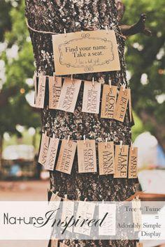 Tree Escort Card Display