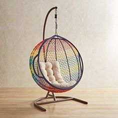 Pier 1 Imports Swingasan Rainbow Ombre Hanging Chair ($380) ❤ Liked On  Polyvore Featuring