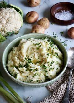 POTETSTAPPE med blomkål og urter Frisk, Hummus, Sweet Potato, Risotto, Potato Salad, Tapas, Veggies, Potatoes, Chips