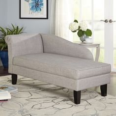 Shop for Simple Living Leena Storage Chaise Lounge. Get free shipping at…